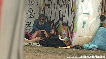 Pure Street Life Homeless Threesome Having Sex on Public thumbnail