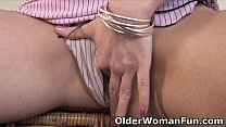 Busty mom finger fucks her sweet pussy