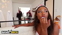 BANGBROS - Sizi Sev's Boyfriend Justin Hunt Fucks Her Sister Chanell Heart On Halloween thumbnail