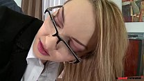Clumsy secretary Kandall N looks for redemption in anal teen fetish fuck Thumbnail
