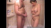 Busty grandma sucks grandpa's tiny cock Thumbnail