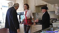 Stockings milf in threeway facialized Thumbnail