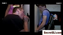 First time for a straight teen (Gloryhole)