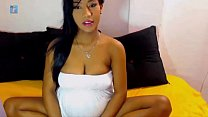beautiful asian woman on web cam