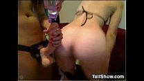 Cute Blonde Lesbian Fucked By A Strapon