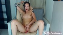 Tender asian cam beauty spanks and cums gently thumbnail