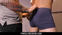 Bear father and jock son workout fuck - www.tubegalore thumbnail