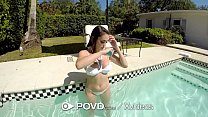 POVD Wet summer pool fuck with MESSY facial