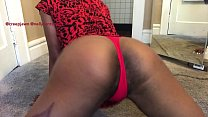 Slim thick twerking hairy pussy and ass in thong Syko Stupid Thick