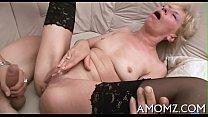 Throbbing knob rams older pussy thumbnail