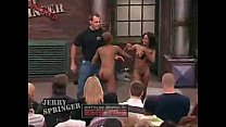 Crazy negresses fighting naked on the Jerry Spring
