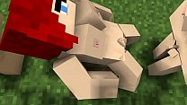 Minecraft Futa Male Female Threesome