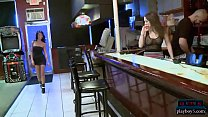 Bartending job interview turns into a hot threesome