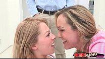 Two women Brandi Love and Zoey Monroe amazing threesome