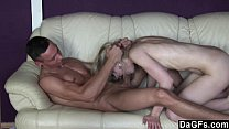 Skinny blde gets fucked and jizzed - 9Club.Top