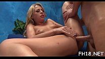 Hot 18 year old gets drilled hard by her massagist