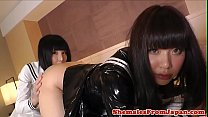 Free download video bokep Asian trans schoolgirls enjoy a twosome