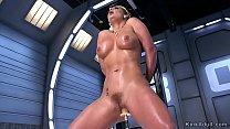 Big tits stunning blonde fucks machine image
