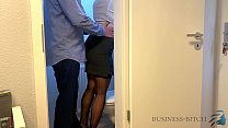 Boss Meets Secretary On The Office Restroom   B