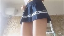6933 WONDERFUL! SEXY TOILET INCIDENT! this schoolgirl loves to pee! white socks and short skirt. spy her! preview