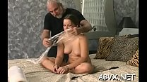 Amateur babe with fine forms naughty slavery po...