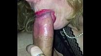 Good girl sucks cock.