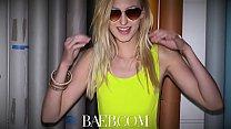 BAEB Skinny blonde babe Alexa Grace stretched o...