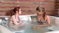 Couple Seduces Hungarian Babe Into A Jacuzzi Threesome