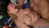 Chubby group orgy in bbw club porn thumbnail