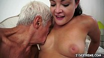 Teen cutie's kinky picnic with a grandpa video
