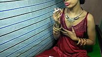 Hot sexy Anita bhabi Rides big cock while smoke Desi video