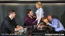 19954 Absolutely Stunningly Sexy Veronica Leal Offers both her holes to 3 guys preview