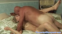 European babe pounded by grandpas cock