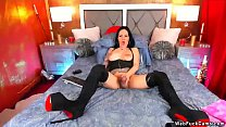 Shemale Camgirl In Boots Wanks Big Cock
