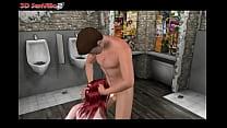 3D SexVilla 2- facefuck in toilet