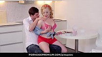 VIP SEX VAULT - Babe with silicone melons fulfills naughty pinup fantasy