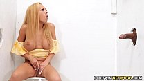 Honey Blossom Meets A Big Black Dick - Gloryhole's Thumb
