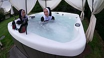 Screenshot Two Naughty Nun s Get Wet In The Hot Tub e Hot Tub