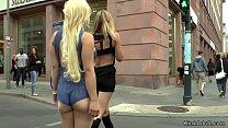 Hot ass busty blonde group fuck in public Vorschaubild