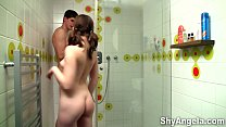 Shy Angela - Fucked in a shower by stepbrother