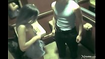 Wife with gorgeous body cheats in toilet during...