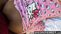 16056 Hello Kitty Pussy Pajama Party With Step Dad Fucking Me Doggystyle In Onsie Pajamas , Msnovember Learning Sex From Old Daddy , Her Cute Black Butt And Tiny Hips Out In Slow Motion HD Sheisnovember preview