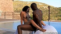 Ebony MILF Takes It Outdoors