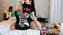 Wenstripper Lesbica Rockeira Novinha Safada Comandando Tua Punheta E Siririca