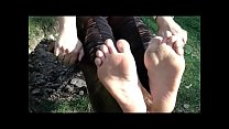 Barefeet On The Seesaw With Mom (Fetish Obsession for Milf and Twenties feet)