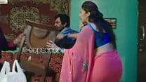 Huma quereshi pink transferant saree a visible ...