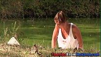 Dutch teen jizzed by lake thumbnail