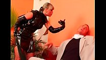 Dude gets tied  up and absolutely dominated by ly dominated by a hot slut