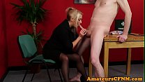 MILF doctor teases her patient during CFNM Preview