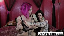 Jen and Anna Bell worship each other's feet